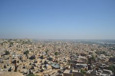 City of Jaisalmer as seen from the top of Jaisalmer Fort