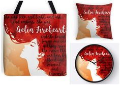 With Love for Books: Aelin Fireheart Clock, Tote Bag & Pillow Giveaway