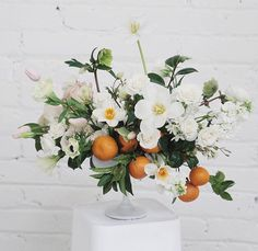 Beautiful flowers with oranges