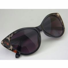 "Vintage Inspired Tom Ford Style Cat Eye Sunglasses Circa 1920 in ""Black Leopard"""