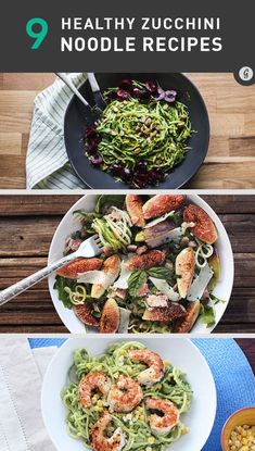 9 Healthy Zucchini Noodle Recipes #healthy #recipes #zucchini