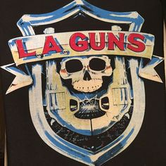 Vintage 1980s Patch LA Guns Vest Jacket Hard Rock Heavy Metal Black XL Roses GNR