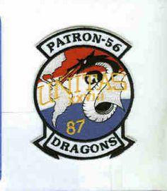 VP-56 DRAGONS UNITAS 1987 NAVY LOCKHEED P-3 ORION SQUADRON PATCH
