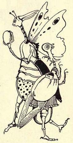 Mad Art Nouveau fantasy illustrations by the Belgian artist, Jean de Bosschère, from his 1921 book, 'Weird Islands'.