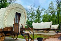 You Can Spend A Weekend Camping In An Old-Fashioned Conestoga Wagon Oregon Dunes, Online Home Design, Mammoth Cave, Camping Resort, Home Design Magazines, Covered Wagon, Camping Spots, Garden Architecture, Rustic Feel