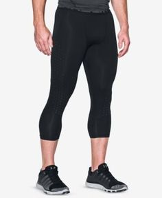 Under Armour Men's HeatGear CoolSwitch Cropped Leggings - Black XL