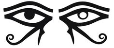 Two Eyes are better than one - Ancient Egyptian symbols of the left and right brains, ie:  using both left and right right brains provide an Holistic Perspective of LIfe.  Downloaded from The Land of Kam Blog - wordpress.com