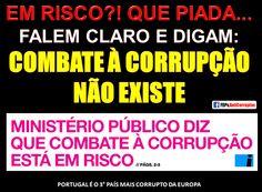 NÃO EXISTE COMBATE À #CORRUPÇÃO EM #PORTUGAL