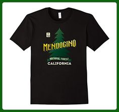 Mens Mendocino National Forest California Retro Logo Shirt 2XL Black - Retro shirts (*Amazon Partner-Link)
