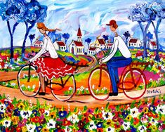 Artwork of Portchie exhibited at Robertson Art Gallery. Original art of more than 60 top South African Artists - Since Colorful Pictures, Pretty Pictures, South African Artists, Cottage Art, Dream Art, Whimsical Art, Watercolor Paintings, Original Art, Images