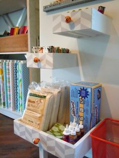 Paint, add a cute handle pull and hang these recycled drawers onto a wall to hold fun things.  Cleverly cute!