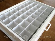 Make socks organizer from Bristol Board cheaply and easily to keep your drawers in order.