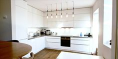 One of our recent projects. A matt white kitchen with a Hi-Macs worktop and Siemens appliances. Crouch End, German Kitchen, Kitchen Cabinets, Projects, Design, Home Decor, Log Projects, Blue Prints, Decoration Home