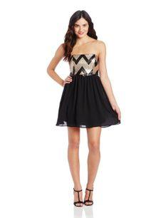 Amazon.com: My Michelle Juniors Sequin Chevron Top Dress: Clothing