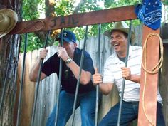 Photo Opt Jail made out of fencing, pvc pipes, and decor ~ Everyone LOVED it! Western Party