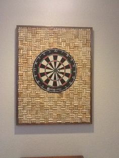 Wine Cork Dart Board My Husband Is So Creative