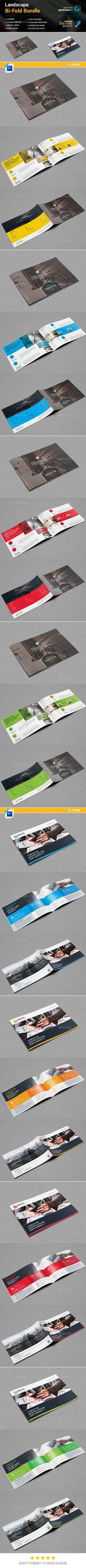 Landscape Bi-Fold Brochure 2 in 1 - Corporate Brochures Download here : https://graphicriver.net/item/landscape-bifold-brochure-2-in-1/19275686?s_rank=114&ref=Al-fatih