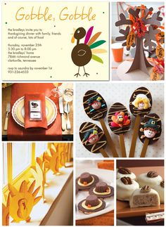 Thanksgiving Party Inspiration Board - GREAT kids ideas!
