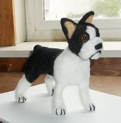 OOAK Needle Felted Boston Terrier by KathysCraftShop on Etsy