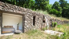 An off-grid stone home in Extremadura, Spain. designed by Ábaton.
