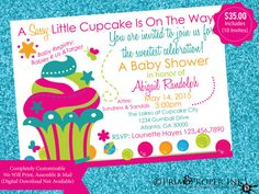 Printed Cupcake & Gumball Baby Shower/Birthday by PRIMPROPERINK