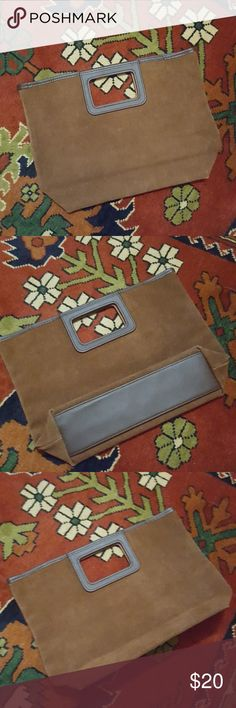 """Vintage Lillian Vernon Brown Leather Bag Excellent condition. Suede with leather trim.   Approx 13"""" wide, 9 1/4"""" tall, and 3 1/4"""" depth (acres bottom). Lillian Vernon Bags"""
