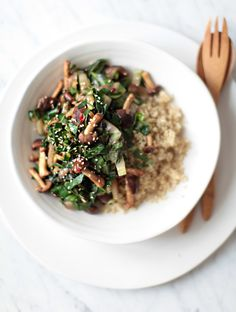 Baby Bok Choy and Shiitake Stir-fry