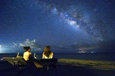 星の島『小浜島』の夜空の彩るティンガーラ(天の川)<はいむるぶしビーチ> はいむるぶし