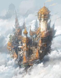 Flying city of bohemia