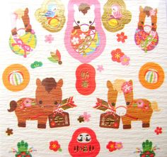 2014 New Year Stickers Year of the Horse by FromJapanWithLove, $6.50