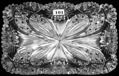 """Lot: 101: 9"""" X 5 1/2"""" AMERICAN BRILLIANT CUT GLASS RECTANGUL, Lot Number: 0101, Starting Bid: $25, Auctioneer: Woody Auction LLC, Auction: American Brilliant Cut Glass Auction, Date: March 2nd, 2013 EST"""