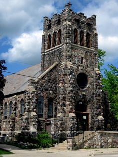 The old stone church on Commerce - a beautiful landmark in this charming village.