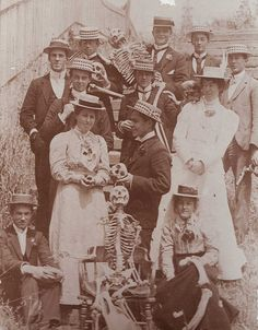 Estudiantes de medicina de primer año en la University of Adelaide, 1900