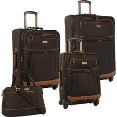 Amazon.com   Tommy Bahama Mojito Four Piece Luggage Set, Dark Brown   Luggage Sets