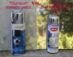 DIY Mercury Glass: Chrome vs. Looking Glass spray paint
