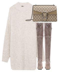 """Untitled #3295"" by theeuropeancloset on Polyvore featuring Stuart Weitzman and Gucci"