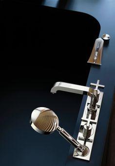 Axor Citterio Bath mixers: two-handle, 2 outlets, chrome, Item No. 39443000