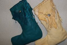Leather Christmas Stockings | Authentic Native American Jewelry ...