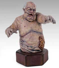"Busto do ""zumbi do poço"" do The Walking Dead: nojento! XP"