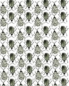 Bugs make a great half drop Surface Pattern Design, Pattern Art, Pattern Paper, Fabric Patterns, Clothing Patterns, Pretty Patterns, Patterns In Nature, Textures Patterns, Pattern Illustration