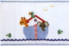 Noah's Ark smocking plate by Little Memories