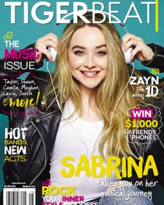 Wow @tigerbeatnow really knows how to pick a covergirl! The next issue of Tiger Beat hits stands in June and features the one and only Sabrina Carpenter! Make sure you pick up a copy when it comes out!