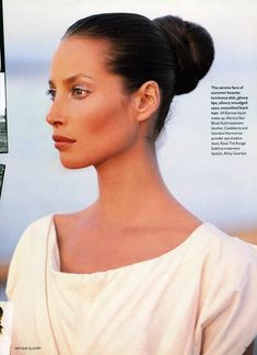 Christy Turlington....when I was young, I thought she was the most beautiful woman in the world