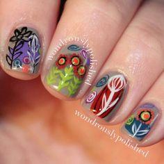 Whimsical Flower Nails