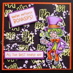 visible image mad hatter wonderland stamps