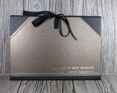 Portafolio A4 arte personalizado / cartera cachet / foto final del hoyuelo metal de cartera bronce - hecho a mano en el Reino Unido