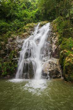 Marinka waterfall in Minca, Colombia
