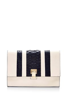 Small Leather Lunch Bag With Python and Embossed Crocodile by Proenza Schouler Now Available on Moda Operandi