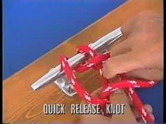 Quick release knot-I think this is the one....friggin kno