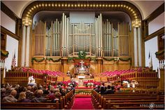 A view of the gorgeous historic organ at Trinity United Methodist Church in Denver Colorado at a Golden Wedding Anniversary celebration. - April O'Hare Photography http://www.apriloharephotography.com #TrinityUnitedMethodistChurch #GoldenAnniversary #DenverPhotographer